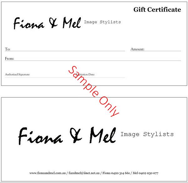 Fiona & Mel Gift Vouchers